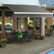 Awntech Retractable Awning Manual 16and039w X 10and039d X 10h Gray