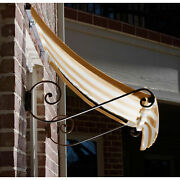 Awntech Window/entry Awning 8-3/8and039w X 4-11/16and039h X 3and039d Linen/white
