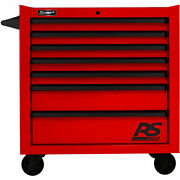 Homak Rd04036070 Rs Pro Series 7 Drawer Red Roller Tool Cabinet 36w X 24d X