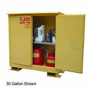 Weatherproof Flammable Safety Cabinet With Roof 45 Gallon Self Close Doors