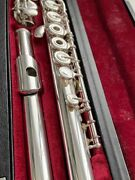 Yamaha Yfl-581 687 Solid Silver Open-hole Flute - Inline G And C-foot Superb
