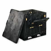 Orbis Heavy-duty Collapsible Bulk Containers Black 32wx30lx34h Lot Of 4