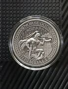 2016 Cook Islands Norse Gods Heimdall 2 Oz Antiqued Silver Coin W/box And Coa