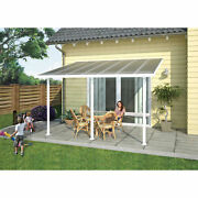 Palram Feria Patio Cover Sidewall Kit 8and039w X 10and039h Clear Panel White Frame