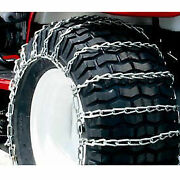 Maxtrac Snow Blower/garden Tractor Tire Chains 2 Link Spacing Steel Pair Lot