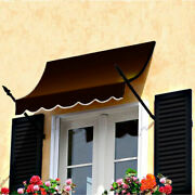 Awntech Spear Arm Awning 8-3/8and039w X 4-11/16and039h X 2-11/16and039d Brown