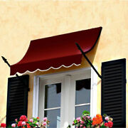 Awntech Spear Arm Awning 10-3/8and039w X 4-11/16and039h X 2-11/16and039d Burgundy
