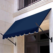 Awntech Spear Arm Awning 8-3/8and039w X 3-11/16and039h X 2and039d Navy