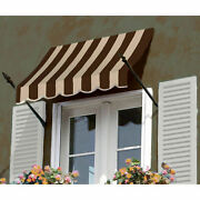 Awntech Spear Arm Awning 10-3/8and039w X 4-11/16and039h X 2-11/16and039d Brown/tan