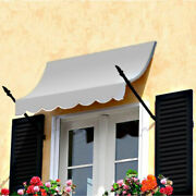 Awntech Spear Arm Awning 10-3/8and039w X 4-11/16and039h X 2-11/16and039d Gray
