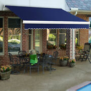 Awntech Retractable Awning Manual 14and039w X 10and039d X 10h Navy