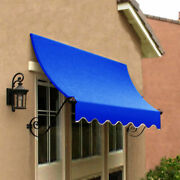 Awntech Window/entry Awning 8-3/8and039w X 4-11/16and039h X 3and039d Bright Blue