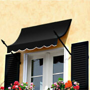 Awntech Spear Arm Awning 8-3/8and039w X 3-11/16and039h X 2and039d Black