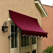 Awntech Window/entry Awning 8-3/8and039w X 4-11/16and039h X 3and039d Burgundy