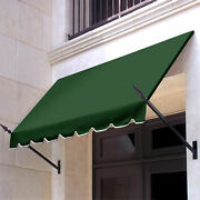 Awntech Spear Arm Awning 8-3/8and039w X 3-11/16and039h X 2and039d Forest Green