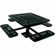 Single Pedestal 46 Square Table Surface Mount Perforated 78w X 78d Black