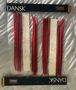 """Vntge Lot Of 2 24 Dansk Design With Light Tiny Taper Candles Red 16"""" 01861"""
