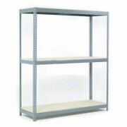 Wide Span Rack With 3 Shelves Wood Deck 1100 Lb Capacity Per Level 96w X 48d