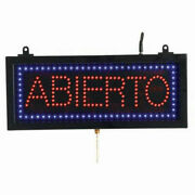 Aarco Small Spanish Led Sign Abierto Open - 16-1/8w X 6-3/4h