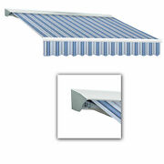 Awntech Retractable Awning Right Motor 10and039w X 8and039d X 10h Blue