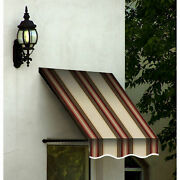 Awntech Window/entry Awning 8-3/8and039w X 3-11/16and039h X 3and039d Brown/terra Cotta