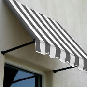 Awntech Window/entry Awning 8-3/8and039w X 3-11/16and039h X 3and039d Gray/white