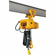Sner Electric Chain Hoist W/ Push Trolley - 15and039 Lift 1 Ton 7 Ft/min 115v