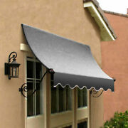 Awntech Window/entry Awning 8-3/8and039w X 4-11/16and039h X 3and039d Gray