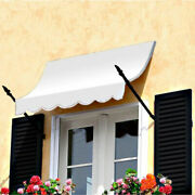 Awntech Spear Arm Awning 8-3/8and039w X 4-11/16and039h X 2-11/16and039d Off White