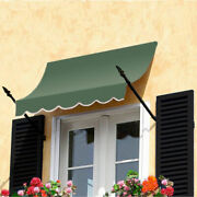 Awntech Spear Arm Awning 8-3/8and039w X 3-11/16and039h X 2and039d Sage