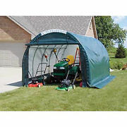 Mini Garage/storage Shed Gray 10and039w X 8and039h X 18and039l