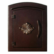 Manchester Locking Security Option With Decorative Scroll Door Antique Copper