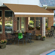 Awntech Retractable Awning Right Motor 12and039w X 10and039d X 10h Brown/tan