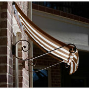 Awntech Window/entry Awning 8-3/8and039w X 4-11/16and039h X 3and039d Brown/tan