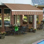 Awntech Retractable Awning Right Motor 10and039w X 8and039d X 10h Brown/terra