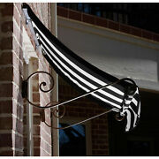 Awntech Window/entry Awning 8-3/8and039w X 4-11/16and039h X 3and039d Black/white