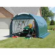 Mini Garage/storage Shed Tan 10and039w X 8and039h X 18and039l