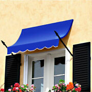Awntech Spear Arm Awning 8-3/8and039w X 3-11/16and039h X 2and039d Bright Blue