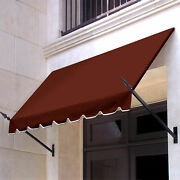 Awntech Spear Arm Awning 10-3/8and039w X 4-11/16and039h X 2-11/16and039d Terra Cotta