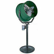 Triangle Engineering 30 Pedestal Fan With Poly Housing 1 Hp 10600 Cfm Single