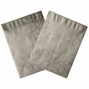 Tyvek Self-seal Colored Envelopes 12 X 15-1/2 End Opening Silver 100 Pack