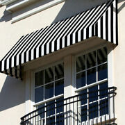 Awntech Window/entry Awning 10-3/8and039w X 2and039h X 4and039d Black/white
