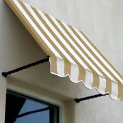 Awntech Window/entry Awning 8-3/8and039w X 3-11/16and039h X 3and039d Tan/white
