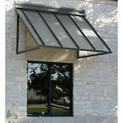 Awntech Seam Slope Awning 5and039 8w X 2and039d X 2and039h Metal