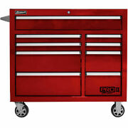 Homak Rd04041092 Pro Ii Series 9 Drawer Red Roller Tool Cabinet 41w X 24-1/2d