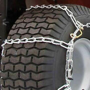 Maxtrac Snow Blower/garden Tractor Tire Chains 4 Link Spacing Steel Pair Lot
