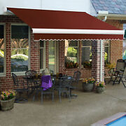 Awntech Retractable Awning Manual 8and039w X 7and039d X 10h Terra Cotta