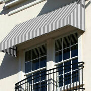 Awntech Window/entry Awning 10-3/8and039w X 2and039h X 4and039d Gray/white