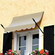 Awntech Spear Arm Awning 8-3/8and039w X 4-11/16and039h X 2-11/16and039d Linen
