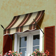 Awntech Spear Arm Awning 8-3/8and039w X 4-11/16and039h X 2-11/16and039d Brown/terra Cotta